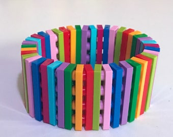Handmade multicoloured MonkiStuff Bracelet made using LEGO® Pieces