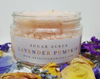 Lavender Pumpkin Sugar Scrub - Lavender Pumpkin Scrub - Pumpkin Lavender Scrub - Aphrodisiac - Natural Sugar Scrub