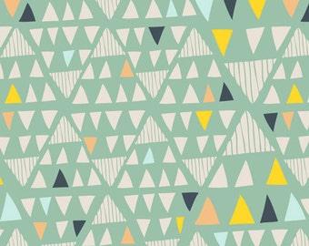 Cotton Fabric   Modern Geometric + Southwestern Fabric   Mojave Aloe   Morning Walk   Art Gallery Fabrics ///  [1/2 yard+]