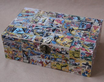 Marvel Comic Strip Wooden Keepsake Jewelry Box
