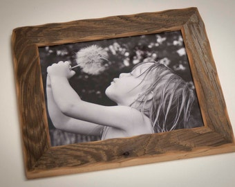 1) Reclaimed Barn wood distressed rustic picture frame upcycled weathered barnwood