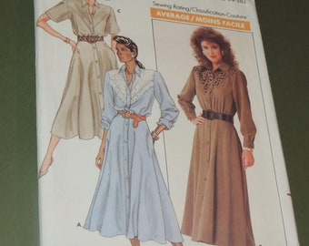 Uncut 12-16 Butterick 5835 Shirt Dress Pattern