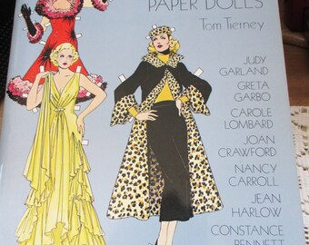 1978 Vintage Movie Stars of the Thirties by Tom TIerney  Paper Doll book - From a paper doll collectors collection! - Estate find!