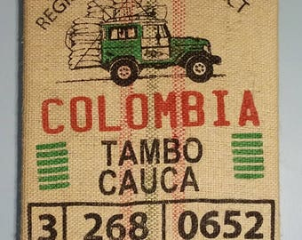 Jeep (Colombia) Coffee Bag Wall Hanging