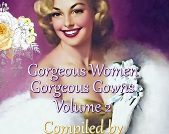 PDF of Gorgeous Women Gorgeous Gowns Grayscale Adult Coloring Book Volume 2 Compiled by Renee Davenport