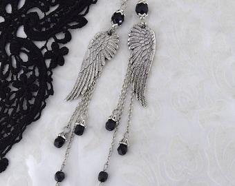 Fallen - Gothic Angel Earrings