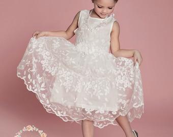 Flower girl dress lace flower girl dress girls dress girls girls dress lace flower girl dress girls lace dress white lace dress mightylinksfo