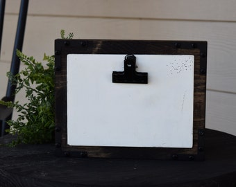 4x6 PHOTO DISPLAY - Industrial Farmhouse Style Picture Frame