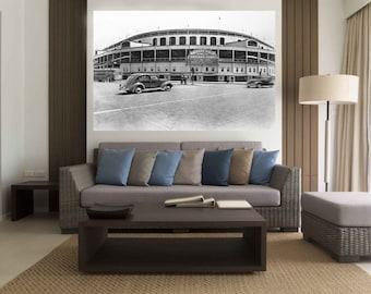 1930's Chicago Cubs WRIGLEY FIELD Canvas Print - Large 36 x 24 North Side