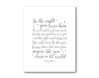 Night You Were Born Nursery Decor