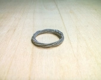 Ring from a guitar string