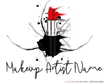 PreMade Logo,  Makeup Artist Logo,  Lipstick Logo, Premade Makeup Artist Logo,  Bold Logo, Modern Logo, Salon Logo, BusinessLogo