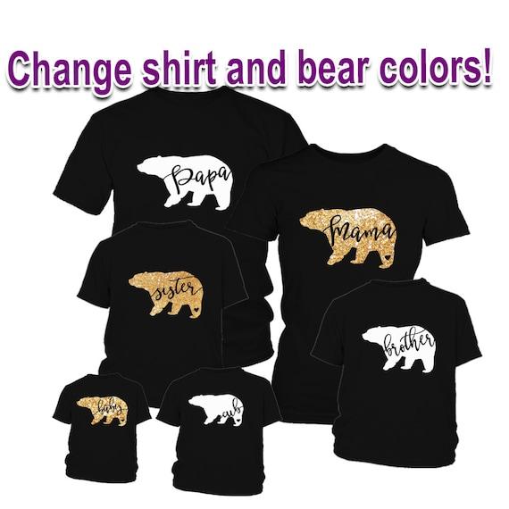 Mama Bear Papa Bear Bear Tribe Family Shirts