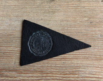 College of Wooster OH leather mini Pennant Vintage Tobacco premium 1910s black graduation gift