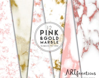 Pink & Gold Marble, seamless texture, marble backgrounds, marble design, rose gold marble, rose gold texture, marble photo, pink gold marble