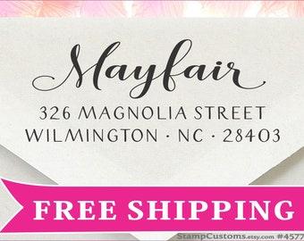 Address Stamp - FAST Return Address Stamp Self Inking  - Christmas Card Invitation Envelopes - 4577