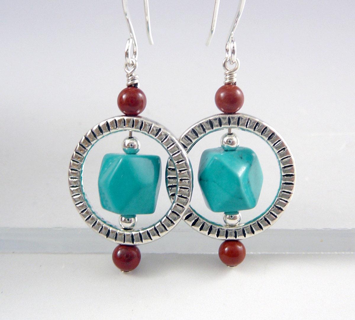turquoise drop earrings december birthstone jewelry western. Black Bedroom Furniture Sets. Home Design Ideas