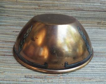 Heintz Art Metal Sterling on Bronze Bowl Early 1900s Arts & Crafts