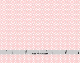 Pink & White Grid Fabric, Pink Quilt Blender Fabric, Maywood Studio Heather MAS 8397 P Jennifer Bosworth,  Pink and White Cotton Yardage