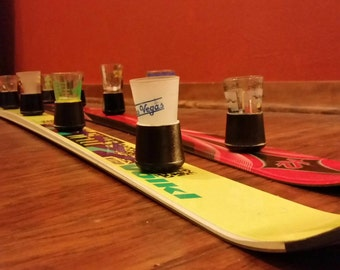 6 - person shotski with holders for easy removal of shot glasses- fits all standard shot glasses