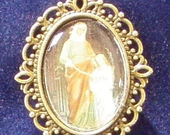 Saint Anne Religious Medal, Patron saint of families, horse riders, miners, seamstresses, lost objects
