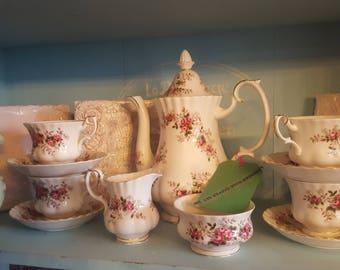 Lavender rose tea set