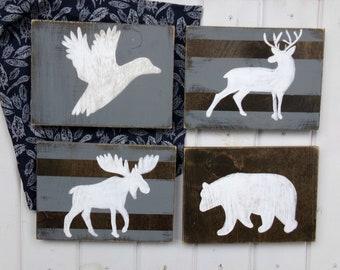 Woodland Nursery Decor, Rustic Nursery Sign, Woodland Babyshower Gift, Hunting Theme Nursery Sign, Log Cabin Nursery Decor, Baby Boy Nursery