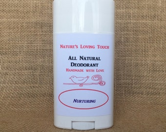 Nurturing Scent All Natural Deodorant That Really Works! Made With Lavender, Cloves, and Spearmint Essential Oils. Smells Clean & Fresh!