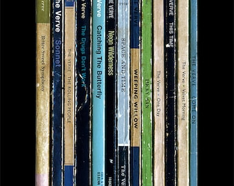 The Verve Urban Hymns Album As Books Poster Print, Literary Print, Book Collection, Indie Music Poster, Penguin Books Art, The Verve Poster