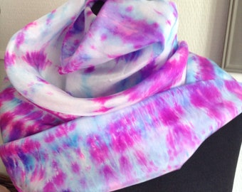 Square silk scarf