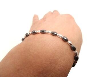 Beautiful Hematite in Sterling 925 Silver Bracelet