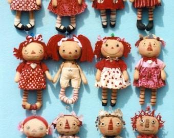 Primitive Cloth Doll PATTERN  A Dozen Dollies - My Little Annie - HHF356