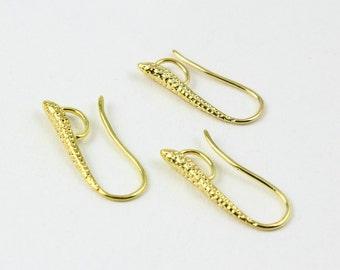 10Pcs Gold Ear Hook Ear Wire Dot Ear Hook 20mm (EG04)