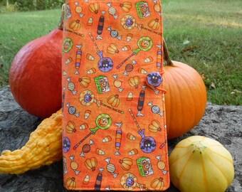 Halloween Treats in orange Traveler's fabric cover