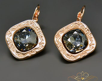 Swarovski Crystal Earrings Vintage Earrings Statement Earrings Bridal Earrings Bridesmaid Gift Drop Earrings Gift for Her Wedding Jewelry