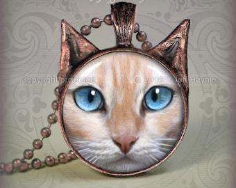 FP6 FLAMEPOINT Siamese Cat pendant