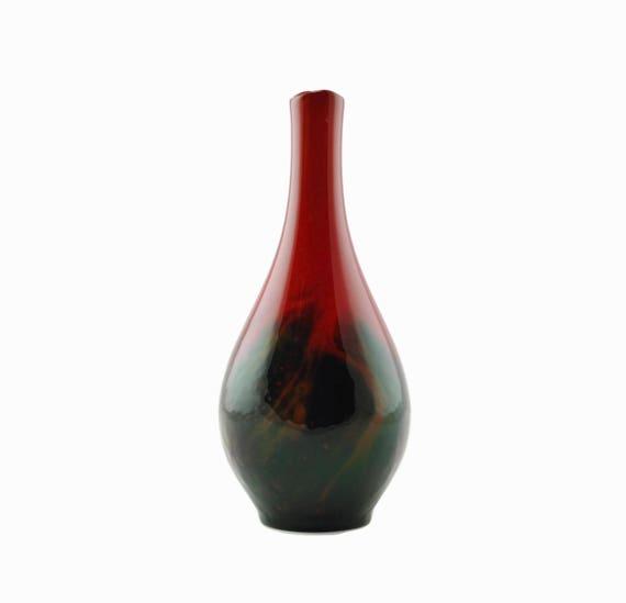 Antique Royal Doulton Flamb Veined Vase