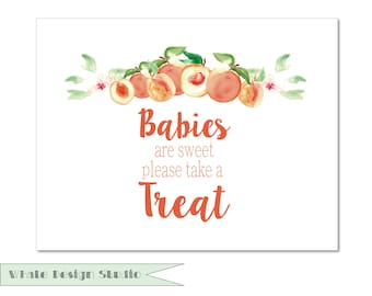 Babies are Sweet Sign | Baby Shower Decore | Printable Treat Sign {Sweet Peaches Theme}