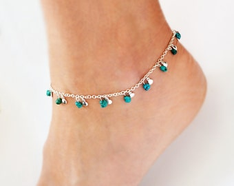 Boho Anklet Turquoise Jewelry Bohemian Ankle Bracelet Beach Anklet Bohemian Ankle Bracelet Silver Anklet Beach Jewelry South West Jewelry