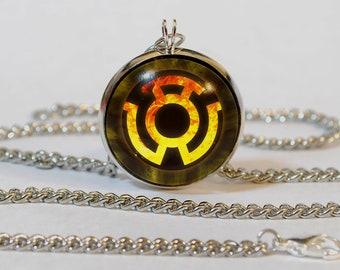 Handmade Yellow Lantern Pendant Necklace