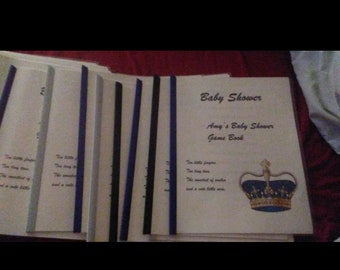 Baby shower game book!