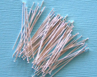 50 Head Pins Stainless Steel 45mm High Quality - PIN050