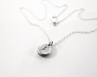 Silver Rune Necklace - Wealth and Prosperity (Fehu) - Elder Futhark Runic Alphabet - Good Fortune - Sterling Silver Necklace