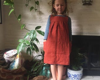 Linen Pinafore Apron -Child