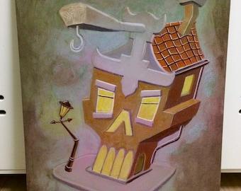 "Original painting ""O.P. Canal House 2"""