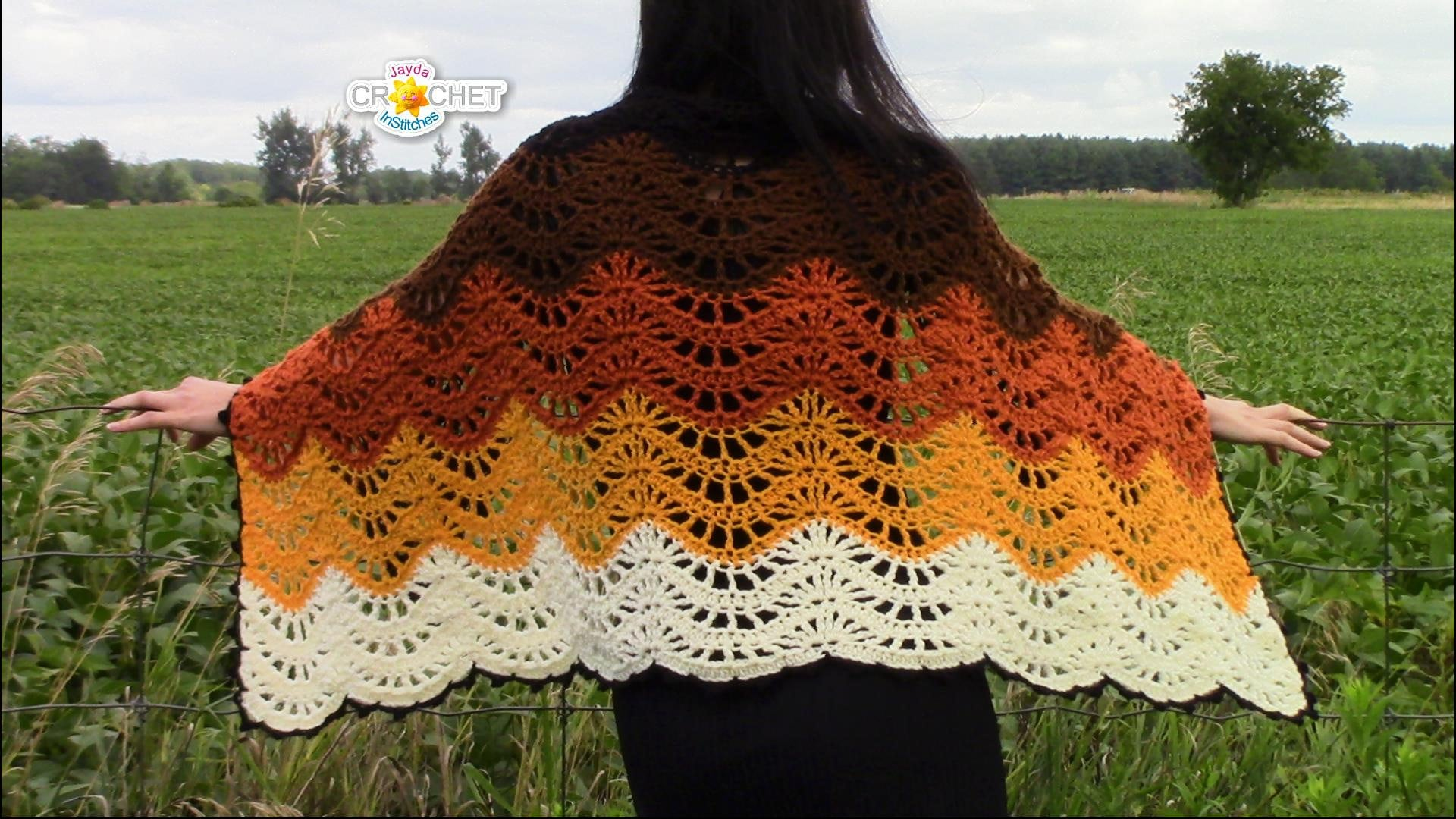Autumn Moon Wrap - Crochet PDF PATTERN - Blanket Scarf, Feather ...