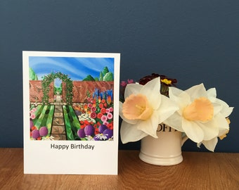 Country Garden Greetings Card