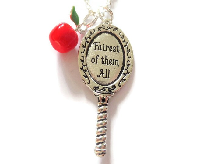 snow white necklace, princess gift, snow white, the huntsman, film jewellery, fan gift, fairest of them all, jewelery, gift, red apple