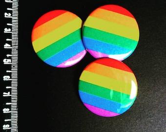 Rainbow pride lgbtq button pin