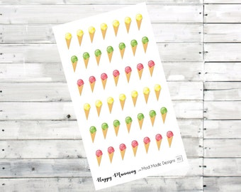 Ice Creams planner stickers- FUNCTIONAL STICKERS